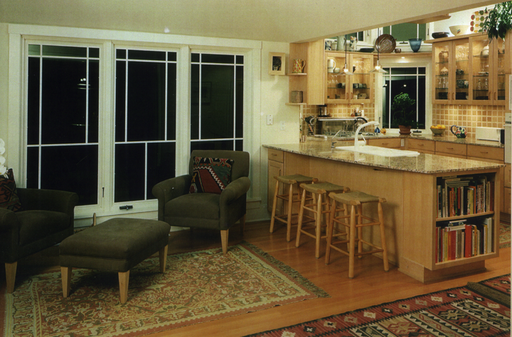 Kitchen, dinette, windows