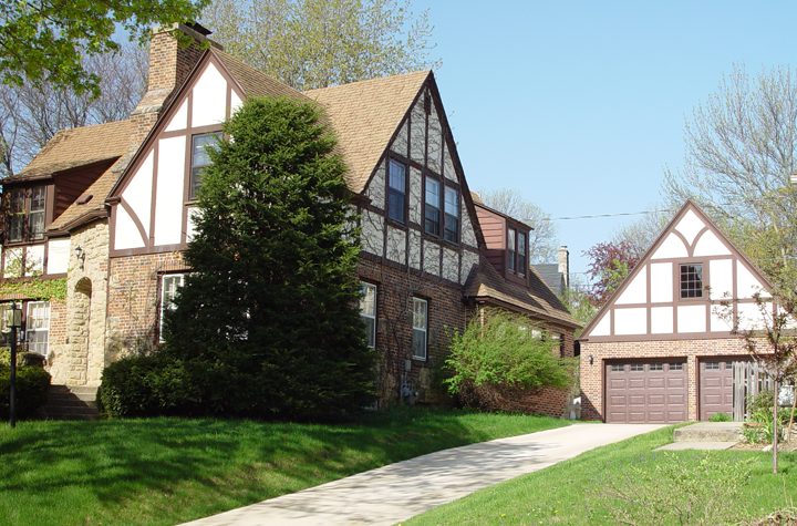 Tudor addition and garage