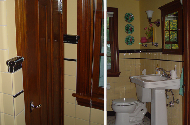 Historic bathroom restoration