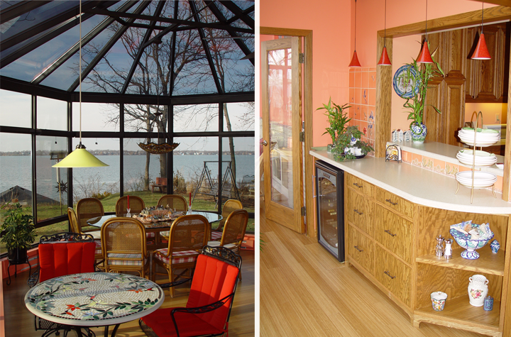From kitchen to sunroom