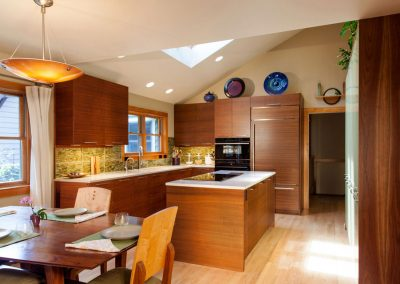 Contemporary Kitchen in Traditional Setting